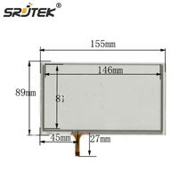 Srjtek New 6.4inch TOUCH Screen panels 155mm*89mm for GPS 155*89 used clarion GPS CAR