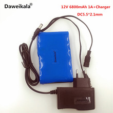 Daweikala Portable 18650 Li-ion battery pack, super capacitor DC 12V 6800mAh in Video Surveillance, Computer Aided Manufacture(China)