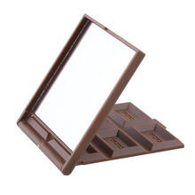 Lovley Chocolate Shape Beauty Cosmetic Makeup Mirror Brown