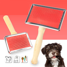 SYDZSW Natural Wood Eco Friendly Pet Cat Dog Slicker Brush Stylish and Durable Pet Grooming Tools Dog Comb XS S M L