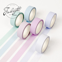Twilight 15mm*8m Warm Colors Japanese Washi Tape Cute Stationery Masking Tape DIY Scrapbooking Traveler's Notebook Diary Sticker