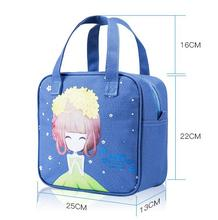 High Quality Women Bags New Carrying Canvas Lunch Insulation Lunch Thickening with Rice Flower Girl Series Bag Character 8 color