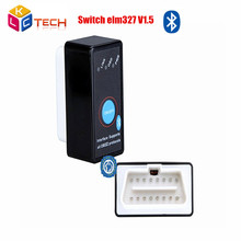 2017 Best Quality ELM 327 OBD2 Bluetooth Switch CAN-BUS Diagnostic Scanner Tool + Switch Works on Android Symbian Windows