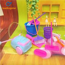 Leadingstar 9Pcs Simulation Home Cleaning Tools Mini Floor Broom Mop Dust Collector Toy for Kids Pretend Play zk30(China)