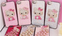 (Mixed Order) Cell Phone Case DIY Charms Alloy Hello Kitty Cat Decoration