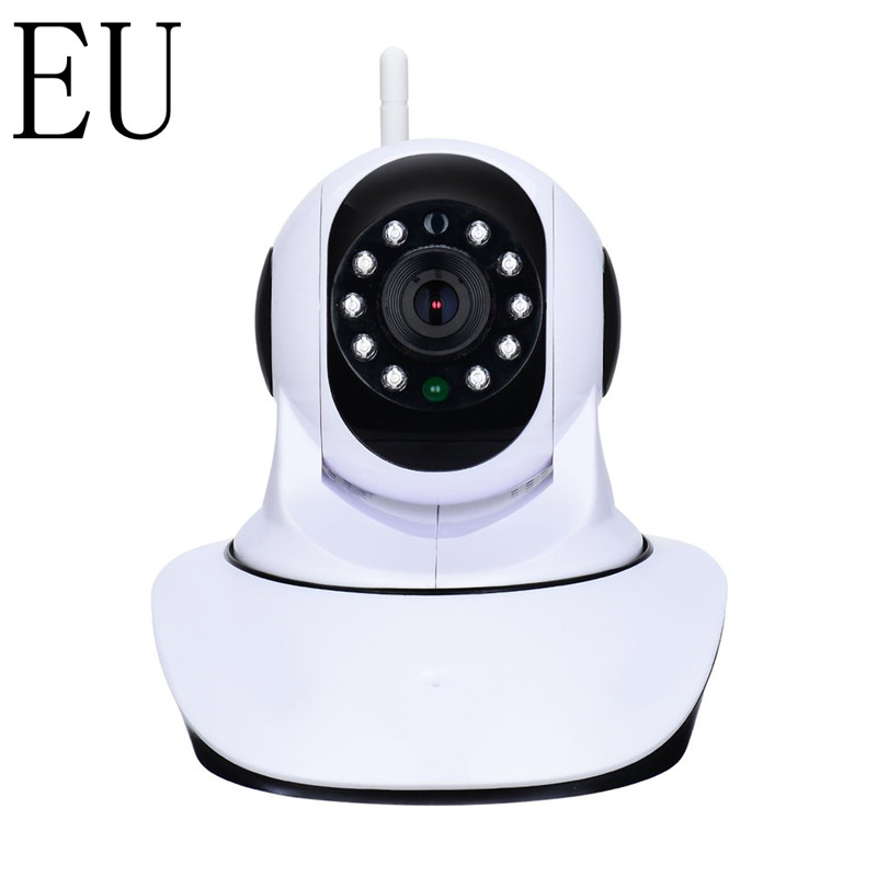 EU 1280*720 HD Wireless WiFi IP Camera Household Baby Monitor TF Card Record Audio Video Surveillance Camera 5V 1.5A<br>