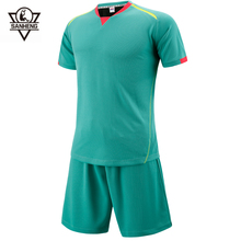 Brand SANHENG Men Soccer Jerseys Sets Customize Men Soccer Training Football Training Clothes Football Jerseys For Man SH368(China)