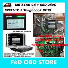 CF19 4G+MB Star C4 SD Connect New NEC relays SN 100925+Vediamo/DTS SSD Xentry Compact 4 Mercedes Diagnosis Multiplexer For Benz(China)