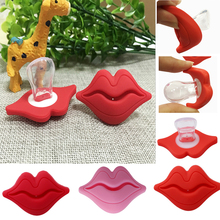 Funny Baby Pacifier New Design Kiss Mouth Joke Prank Infant Soother Teether Dummy Nipples Non-toxic Safety Baby Pacifier(China)