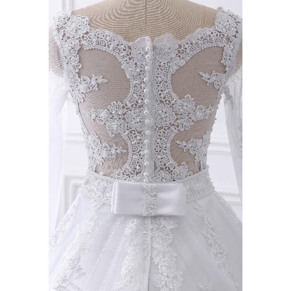 2017 new Vestido de noiva Long Sleeves Wedding Dresses Sexy Back Bride Dresses Wedding Gowns Princess Casamento Robe de Mariage 5