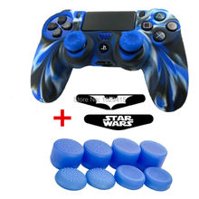 13 in 1 for Sony Dualshock 4 PS4 Wireless Controller Soft Silicone Protection Case Cover + 10 Thumbsticks Grips + 2 LED Sticker
