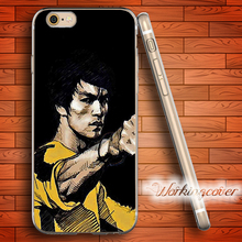 Capa Bruce Lee Kongfu Star Soft Clear TPU Case for iPhone 6 6S 7 Plus 5S SE 5 5C 4S 4 Plus Case Ultra Thin Slim Silicone Cover.(China)