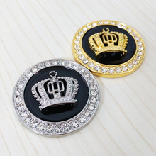 OTOKIT Metal Car Styling Decoration Stickers Fine Bling Crystal Diamond Crown Emblem Personality Car Body Sticker Accessories