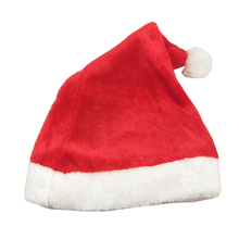 1Pcs Adults Unisex Plush Red Father Christmas Santa Claus Hat Festive Easter Christmas Party Fancy Dress Accessory Xmas Hat
