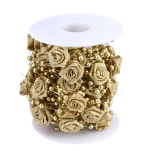 New 10 Meters Artificial Pearls Beads Chain Garland Flowers Wedding Party Decoration Products Supply