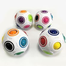 New Sale Creative Rainbow Football Creative Ball Children Kids Spherical Magic Cube Toy Learning And Education Puzzle Toys(China)