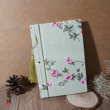 New Chinese Style Retor Flower Handmade Cloth Notebook School Office diary creative hand notes 781