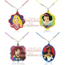 4-5pcs/lot Princess Belle Pendants Necklaces Fit Cards Invitations Cartoon Christmas Decorations charms for kids gifts(China)