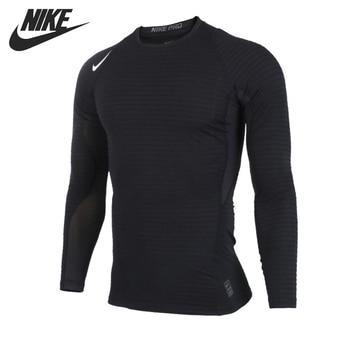 Nueva llegada 2017 nike como borrador caliente ls equipo de entrenamiento de los hombres tight camisetas de manga larga de ropa deportiva