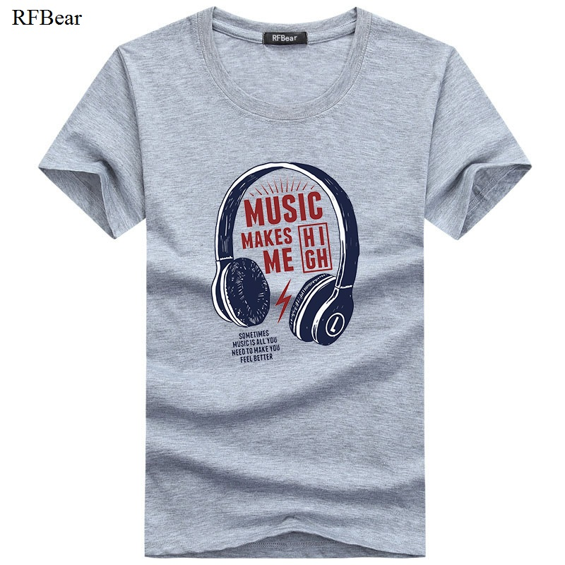 Muška odeća ... Majice ... 32730818597 ... 3 ... RFBEAR Brand 2018 New Fashion Summer T Shirts Men O-Neck Cotton T-Shirt Casual tshirt homme Short Sleeve Men's Clothing White  ...