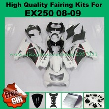 Free screws+gifts Injection mold for Kawasaki Ninja 250R Fairings kit 2008-2014 model ZX250R EX250R 08 09 Black White(China)