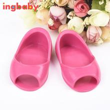 Pair PU Red Gap Plastic Shoessuitable For 18 Inch American Girl Doll Children DIY Small Toy Accessories Girl Gift ingbaby WJ933