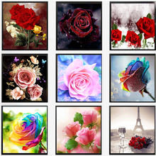 Buy % DIY 5D Diamond embroidery rose flower diamond cross stitch Needlework crystal sets unfinished decorative diy diamond painting for $1.43 in AliExpress store