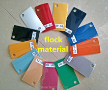 Newest 12 Colors for Choosing Flock material vinyl Heat Transfer Vinyl Film for school number t-shirt or team clothes