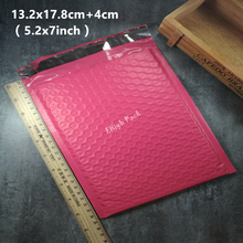 13.2x17.8cm (5.2*7inch) 50pcs/lot Usable space pink Poly bubble Mailer envelopes padded Mailing Bag Self Sealing