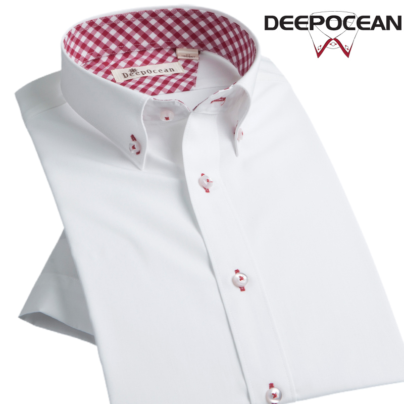 New Fashion Men Shirt White Business Shirt Mens Casual Cotton Shirt Short Sleeve Slim Korean Style Business Shirts DDX35514SS