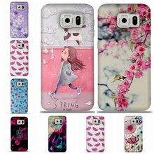 For Coque Samsung S6 Case 3D Relief Printing Silicone TPU Cover For Galaxy S6 Phone Case For Coque Samsung Galaxy S6 S 6 Bag(China)