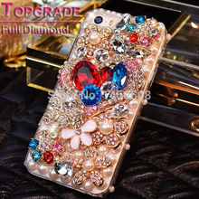 For Asus ZenFone 2 4 5 6 lite Laser Max Deluxe GO Handmade Luxury Rhinestone phone case Crystal cover Love Style(China)
