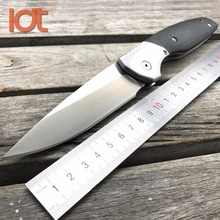 LDT Roller 110 Folding Blade Knives 9Cr18Mov Blade G10 Steel Handle Tactical Wild Boar Knives Hunting Pocket 95 Tactical Tools(China)