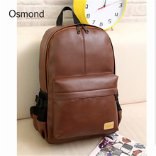 Osmond Fashion Leather Backpacks Men Brown Women Rucksack Bolsas school bags for teenagers backpack school