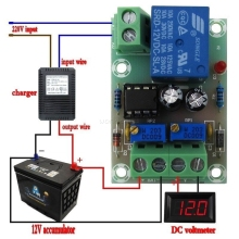 XH-M601 Battery Charging Control Board 12V Intelligent Charger Power Supply Module Panel Automatic Charging/Stop Switch