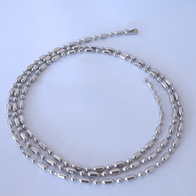 6pcs/lot 2.4mm Silver Tone 316L Stainless Steel Ball Chain Necklace Bamboo Link Chains For DIY Jewelry Accessory