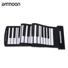 Portable 61 Keys Flexible Roll-Up Piano USB MIDI Electronic Keyboard Hand Roll Up Piano