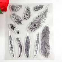Coolhoo sorts of peacock feathers Transparent Stamp  DIY Scrapbooking/Card Making/ Decoration Supplies