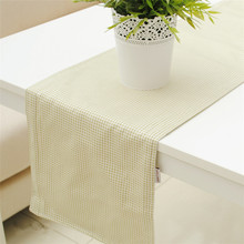 Europe Style Cotton Canvas Green Plaid Table Runner for Home/Hotel Double Layer Canvas 30*180cm 30* 210cm Accept Customized(China)