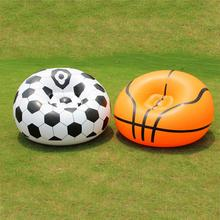 Single Seat Inflatable Basketball Football Soccer Sofa Chair  Outdoor Summer Swimming Pool Inflated Float Raft Beach Air Sofa
