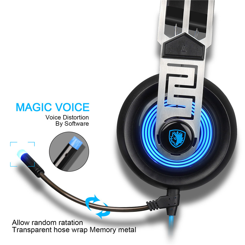 Sades A7 USB Gaming Headset Headphones 7.1 Stereo Surround Sound Earphone Game Headphone with Microphone Led for PC Laptop Gamer (9)