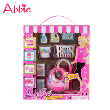 ABBIE Accessories Toys Vacuum Cleaner Set Cleaning Fun Battery Operated Real Suction Toy Girl's Christmas Gift(China)