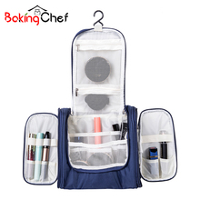 BAKINGCHEF Women's Men's Cosmetic Toiletry Organization Beauty Makeup Towel Storage Bags Box Case Outdoor Travel Overnight Items(China)