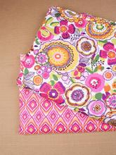High quality 150*50cm cloth,cotton fabric,attractive pink flower design,cotton fabric meter,fabric for patchwork,2Pcs/lot(China)