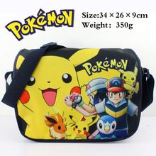 Colorful Pocket Monster polyester shoulder bag printed w/ Pikachu Type B