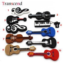 Transcend 10 styles Musical Instruments Model pendrive 8gb 16gb 32gb 64gb USB flash drive violin/piano/guitar(China)