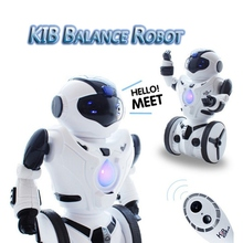 High Quality JXD KiB Children Intelligent Balance RC Robot Wheelbarrow Dancing Toy Remote Control Musical Toys Birthday Gift(China)