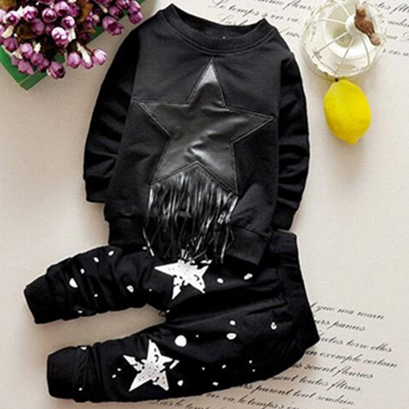 New arrival baby boy winter clothing solid printing black star dot boys great quality cotton brand kids tassle clothes sets<br><br>Aliexpress