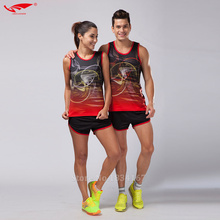 Men Sport Suits Marathon Clothes Vest+Shorts 2 pieces set Racing kits Track and field Clothing Jogging Running Sets 2017 New(China)
