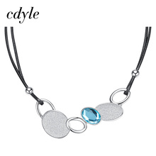 Cdyle Austrian Rhinestone Pendant Women Necklaces Personality Crystals From Swarovski Fashion Jewelry Clothing Accessories(China)